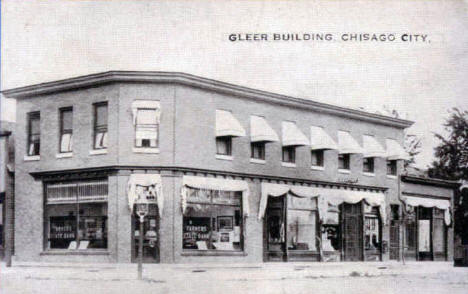 Gleer Building, Chisago City Minnesota, 1910's?