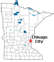 Location of Chisago City Minnesota