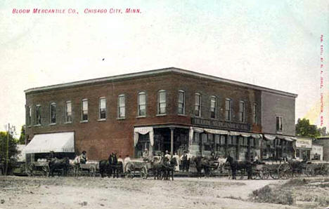 Bloom Mercantile Company, Chisago City Minnesota, 1907