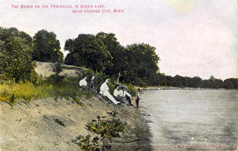 Green Lake near Chisago City Minnesota, 1908