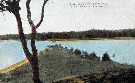 Point on Green Lake near Chisago City Minnesota, 1910