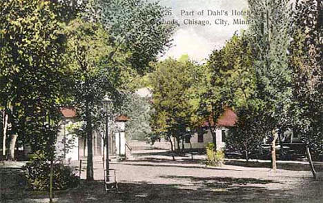 Dahls Hotel and grounds, Chisago City Minnesota, 1911