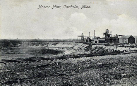 Monroe Mine, Chisholm Minnesota, 1908