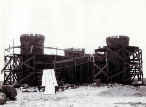 Construction of the Castle at the Minnesota Museum of Mining, Chisholm, 1942