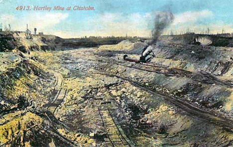 Hartley Mine at Chisholm Minnesota, 1910