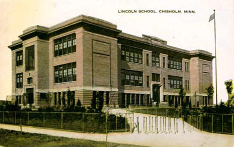 Lincoln School, Chisholm Minnesota, 1915