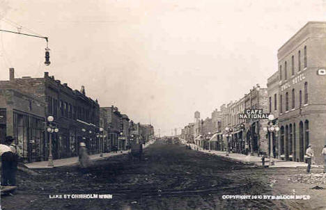 Lake Street, Chisholm Minnesota, 1910
