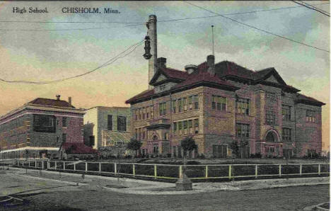 High School, Chisholm Minnesota, 1917