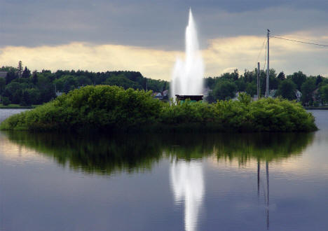 Longyear Lake Fountain, Chisholm Minnesota, 2008
