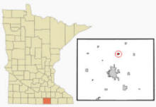 Location of Clarks Grove, Minnesota