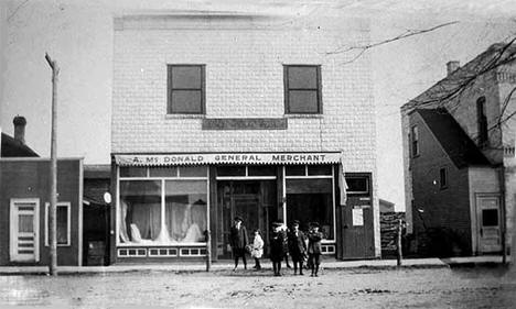A. McDonald, General Merchant Store, Clear Lake Minnesota, 1914