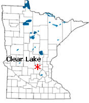 Location of Clear Lake Minnesota