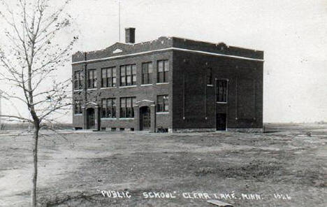 Public School, Clear Lake Minnesota, 1910's?