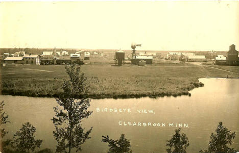 Birds eye view, Clearbrook Minnesota, 1927