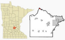 Location of Clearwater, Minnesota