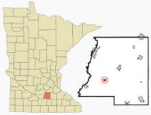 Location of Cleveland, Minnesota