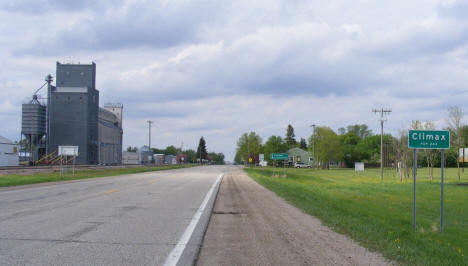 View entering Climax Minnesota on US Highway 75, 2008