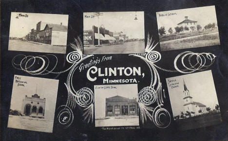 Multiple scenes, Clinton Minnesota, 1909