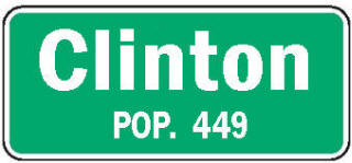 Clinton Minnesota population sign