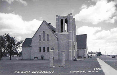Trinity Lutheran Church, Clinton Minnesota, 1950's