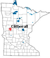 Location of Clitherall Minnesota