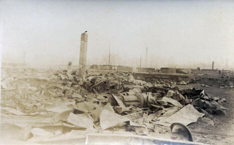 General view of Cloquet after the fire, 1918