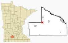 Location of Cobden, Minnesota