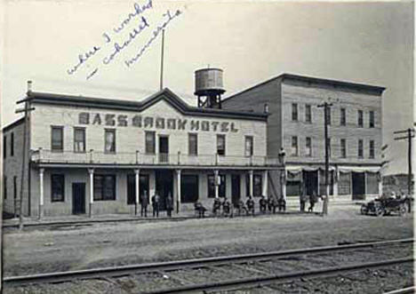 Bass Brook Hotel, Minnesota, early 1910's