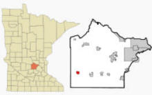 Location of Cokato, Minnesota