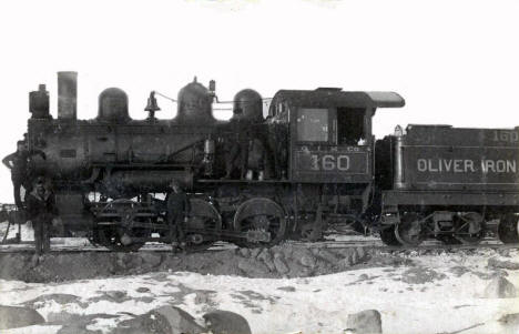 Steam Locomotive, Oliver Iron Mining Company, Coleraine Minnesota, 1909