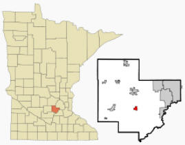 Location of Cologne, Minnesota