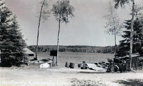 Handberg's Northwoods Lodge, Crane Lake Minnesota, 1930's