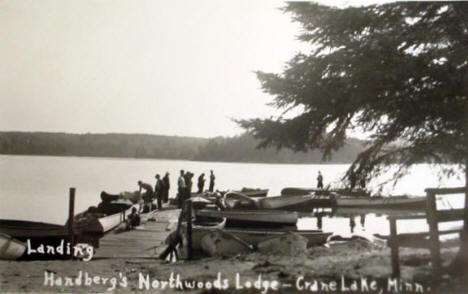 Handberg's Northwoods Lodge, Crane Lake Minnesota, 1941