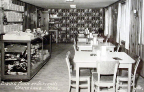 Dining Room at Ostlund's, Crane Lake Minnesota, 1958
