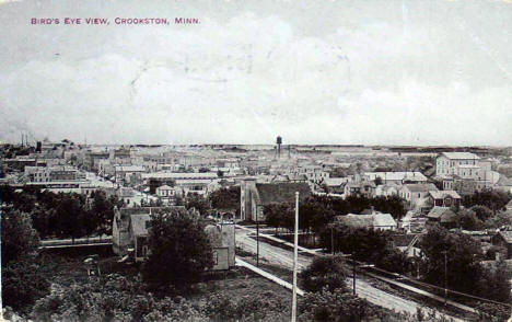 Birds eye view, Crookston Minnesota, 1910