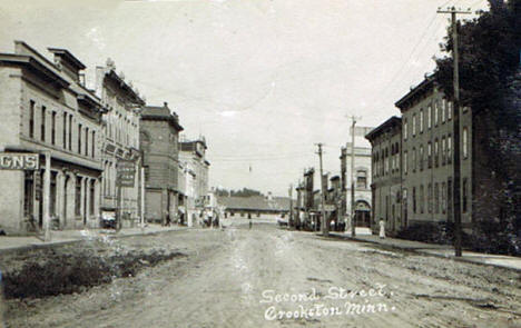 Second Street, Crookston Minnesota, 1908
