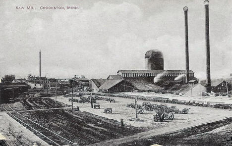 Saw Mill, Crookston Minnesota, 1910's