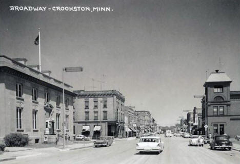 Broadway, Crookston Minnesota, 1958