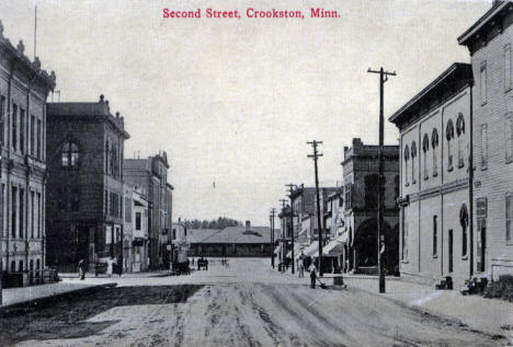 Second Street, Crookston Minnesota, 1910's