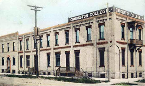 Crookston College, Crookston Minnesota, 1910