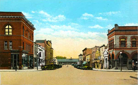 Second Street, looking west, Crookston Minnesota, 1925