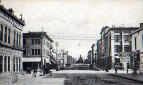 Second Street looking east, Crookston Minnesota, 1910