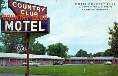 Country Club Motel, Crookston Minnesota, 1960's