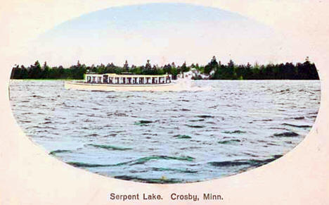Serpent Lake, Crosby Minnesota, 1910