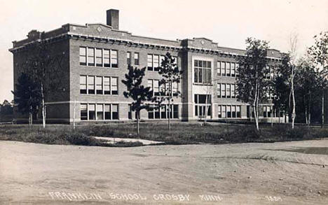 Franklin School, Crosby Minnesota, 1915