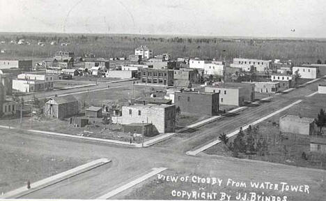 View of Crosby Minnesota from water tower, 1912