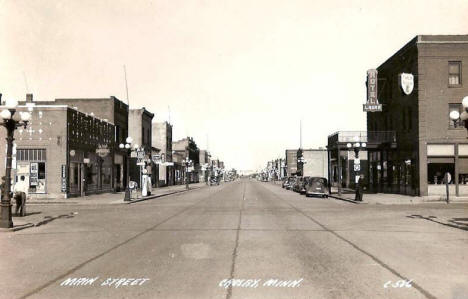 Main Street, Crosby Minnesota, 1955