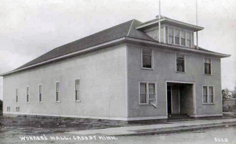 Workers Hall, Crosby Minnesota, 1940's