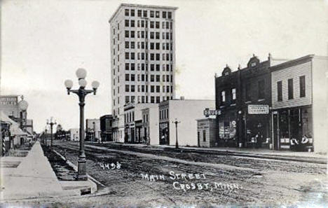 Main Street, Crosby Minnesota, 1925