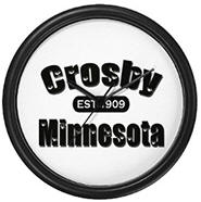 Crosby Established 1909 Wall Clock